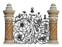 Geschmiedetes dekoratives Gitter Lizenzfreies Stockfoto