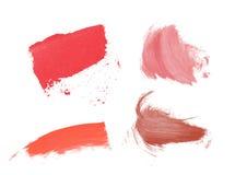Geschmierte Stelle Abstrakter roter Wellenbürstenanschlag Stockfotos