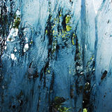 Geschmolzener blauer Plastik Stockfotos