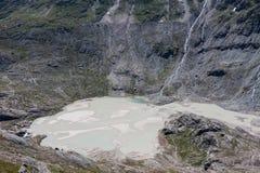 Geschmolzener Schnee in Grossglockner-Gletscher, der höchste Berg von Au Lizenzfreies Stockbild