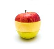 Geschnittene †‹â€ ‹Apfelfarbe Stockfoto