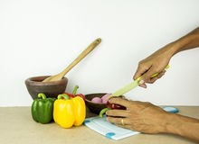 Geschnittene †‹â€ ‹Gemüsepaprikas stockbilder