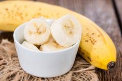 Geschnittene Banane Stockfotografie