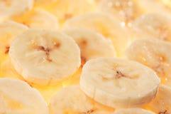 Geschnittene Banane Stockfotos