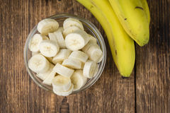 Geschnittene Bananen Stockbild