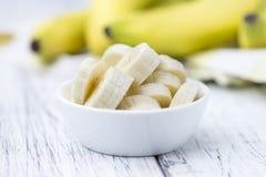 Geschnittene Bananen Lizenzfreies Stockbild