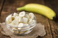 Geschnittene Bananen Lizenzfreies Stockfoto