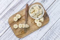 Geschnittene Bananen Lizenzfreie Stockbilder