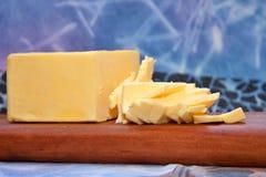 Geschnittene Butter Lizenzfreies Stockfoto