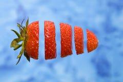 Geschnittene Erdbeere Stockfotos