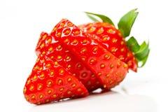 Geschnittene Erdbeere Stockfoto