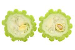 Geschnittene frische bittere Melone Lizenzfreies Stockbild