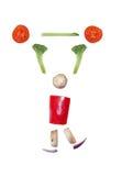 Geschnittene Gemüsefigürchen Lizenzfreie Stockfotos