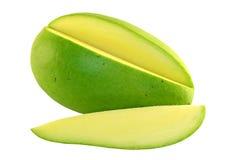 Geschnittene grüne Mangofrucht lizenzfreies stockbild