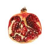 Geschnittene Hälfte einer Granatapfelfrucht Lizenzfreies Stockbild