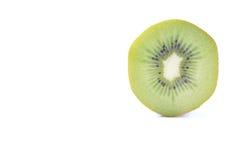 Geschnittene Kiwi auf Weiß Stockbild