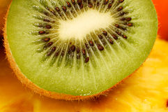 Geschnittene Kiwi-Frucht Lizenzfreies Stockfoto
