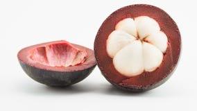 Geschnittene Mangostanfrucht Stockbild