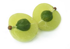 Geschnittene medizinische amla Frucht Stockbild