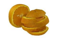 Geschnittene Orange Lizenzfreie Stockfotos