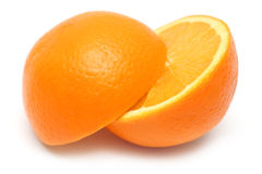 Geschnittene orange Frucht stockfotografie