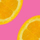 Geschnittene orange Frucht Lizenzfreie Stockfotografie