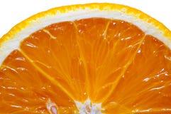 Geschnittene Orange getrennt auf Weiß Stockfotos