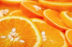 Geschnittene Orangen Lizenzfreies Stockbild