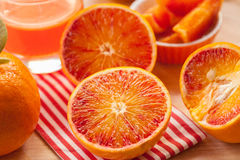 Geschnittene Orangen Lizenzfreie Stockbilder