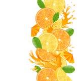 Geschnittene Orangen und Zitronen Stockfotografie