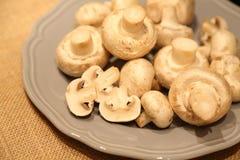 Geschnittene Pilze Stockfoto