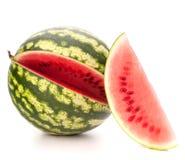 Geschnittene reife Wassermelone Stockfotos