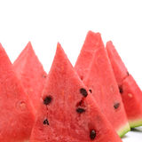 Geschnittene reife Wassermelone Stockbild