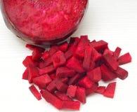 Geschnittene rote rote Rüben Stockfoto