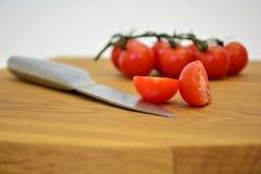 Geschnittene Tomate stockbild