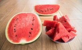 Geschnittene Wassermelone Lizenzfreie Stockfotografie