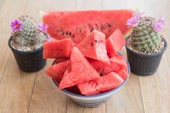 Geschnittene Wassermelone Lizenzfreies Stockbild