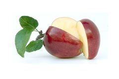 Geschnittener Apfel Stockfotos