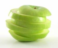 Geschnittener grüner Apfel Lizenzfreies Stockbild