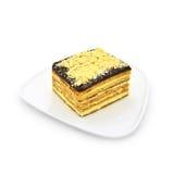 Geschnittener Honig-Kuchen Stockbilder