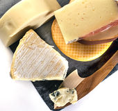 Geschnittener Käse Stockfotos