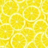 Geschnittener nahtloser Hintergrund der Zitrone Stockbilder
