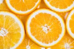 Geschnittener orange Hintergrund Nahrung und Getränk Lizenzfreies Stockbild