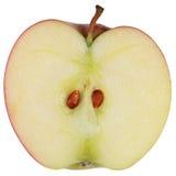 Geschnittener roter Apfel Stockfotos