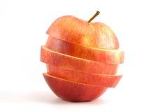 Geschnittener roter Apfel Stockfoto