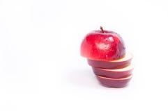 Geschnittener roter Apfel frisch Stockfotografie