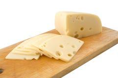 Geschnittener Schweizer Käse Lizenzfreies Stockbild