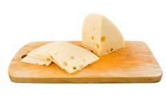 Geschnittener Schweizer Käse Lizenzfreie Stockfotos