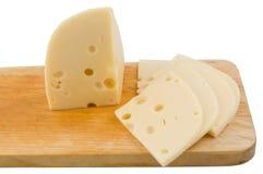 Geschnittener Schweizer Käse Stockfoto