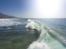 Geschnittener Strand Fuerteventuras La an der Vogelperspektive der Kanarischen Inseln lizenzfreie stockbilder